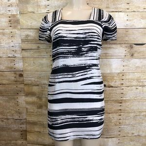 BANANA REPUBLIC | Striped Black And White Dress 4